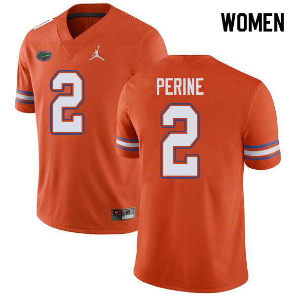 Jordan Brand Women #2 Lamical Perine Florida Gators College Football Jerseys Sale-Orange
