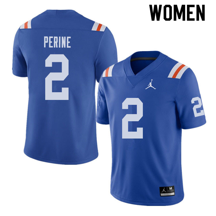 Jordan Brand Women #2 Lamical Perine Florida Gators Throwback Alternate College Football Jerseys Sal