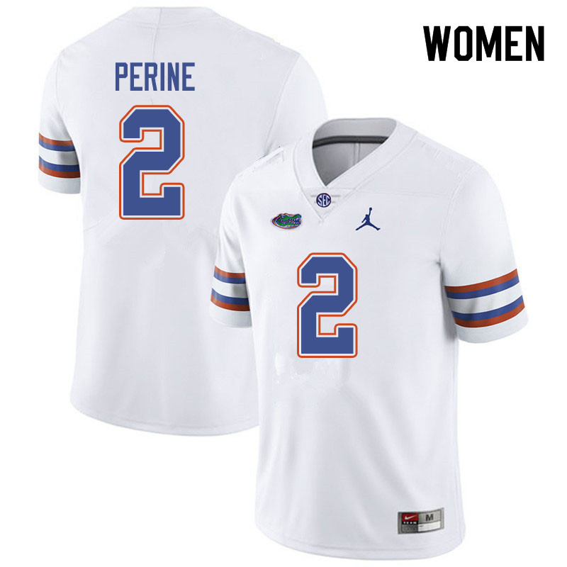 Jordan Brand Women #2 Lamical Perine Florida Gators College Football Jerseys Sale-White