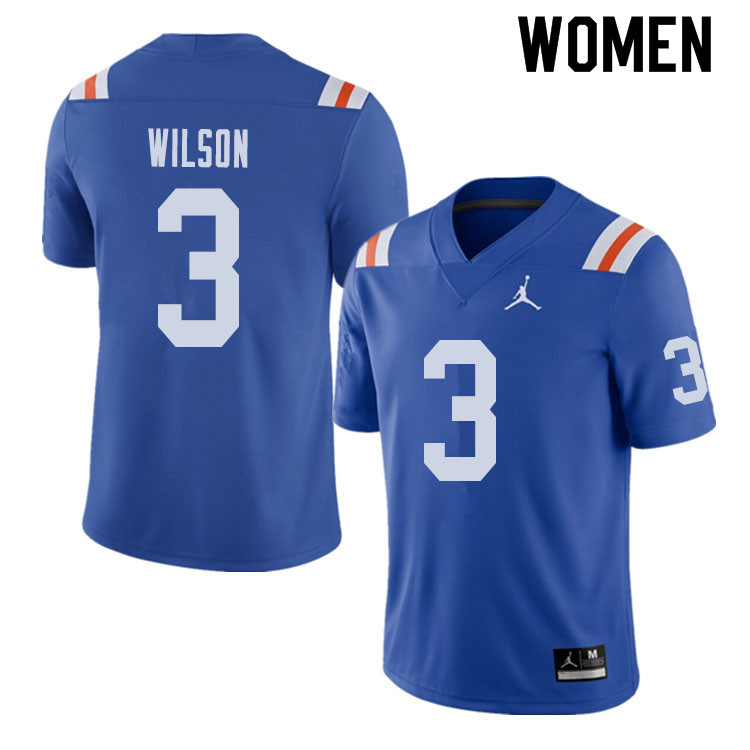 Jordan Brand Women #3 Marco Wilson Florida Gators Throwback Alternate College Football Jerseys Sale-
