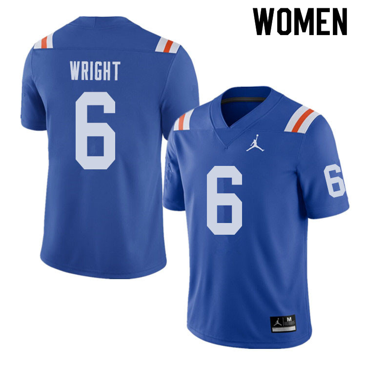 Jordan Brand Women #6 Nay'Quan Wright Florida Gators Throwback Alternate College Football Jerseys Sa