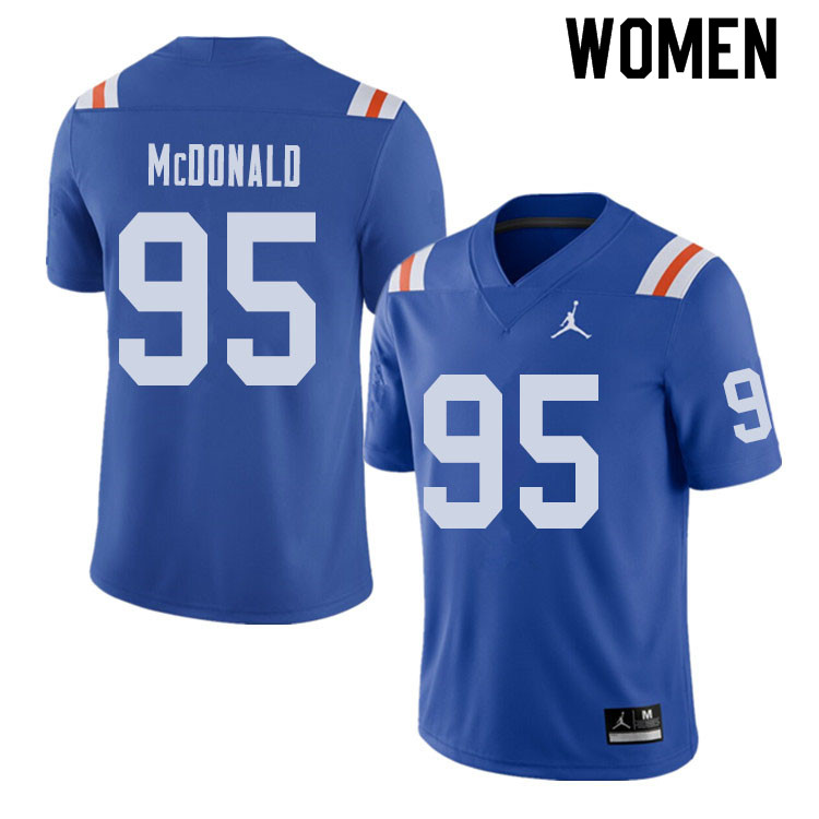 Jordan Brand Women #95 Ray McDonald Florida Gators Throwback Alternate College Football Jerseys Sale