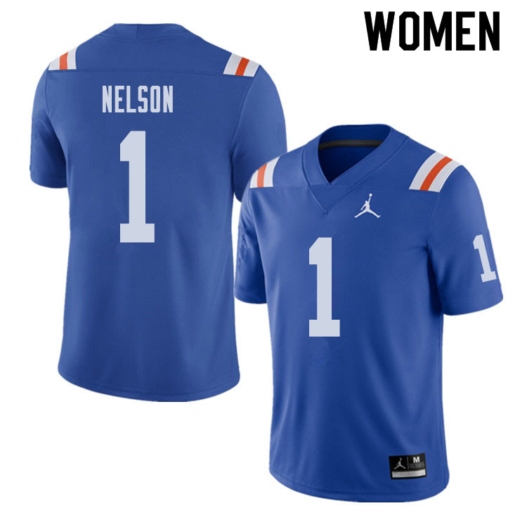 Jordan Brand Women #1 Reggie Nelson Florida Gators Throwback Alternate College Football Jerseys Sale