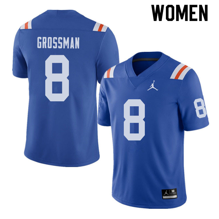 Jordan Brand Women #8 Rex Grossman Florida Gators Throwback Alternate College Football Jerseys Sale-