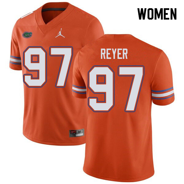 Jordan Brand Women #97 Theodore Reyer Florida Gators College Football Jerseys Sale-Orange