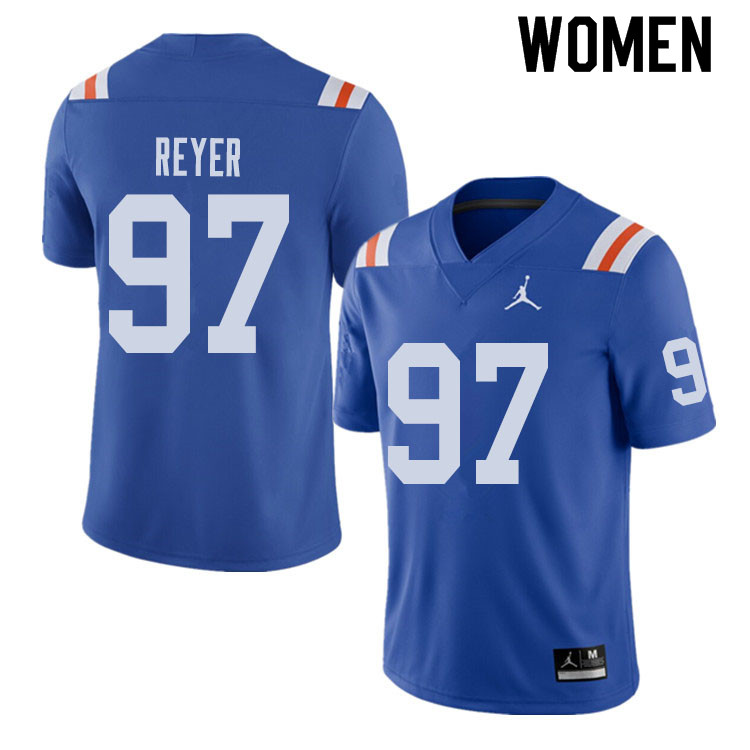 Jordan Brand Women #97 Theodore Reyer Florida Gators Throwback Alternate College Football Jerseys Sa