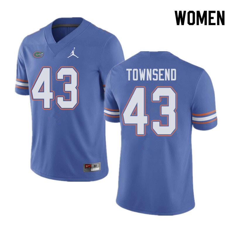Jordan Brand Women #43 Tommy Townsend Florida Gators College Football Jerseys Sale-Blue