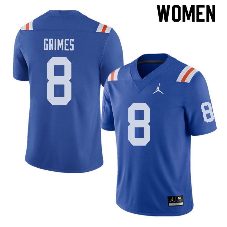 Jordan Brand Women #8 Trevon Grimes Florida Gators Throwback Alternate College Football Jerseys Sale