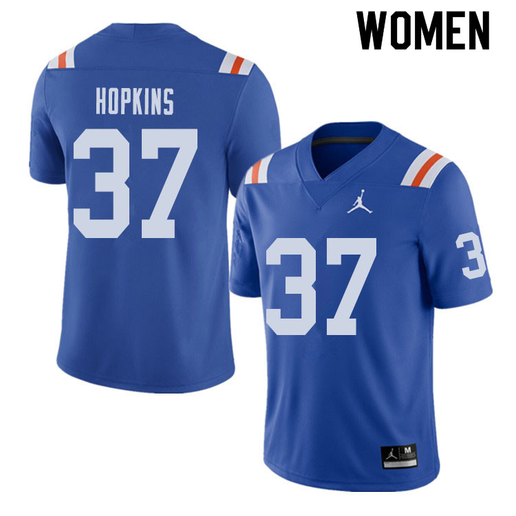 Jordan Brand Women #37 Tyriek Hopkins Florida Gators Throwback Alternate College Football Jerseys Sa