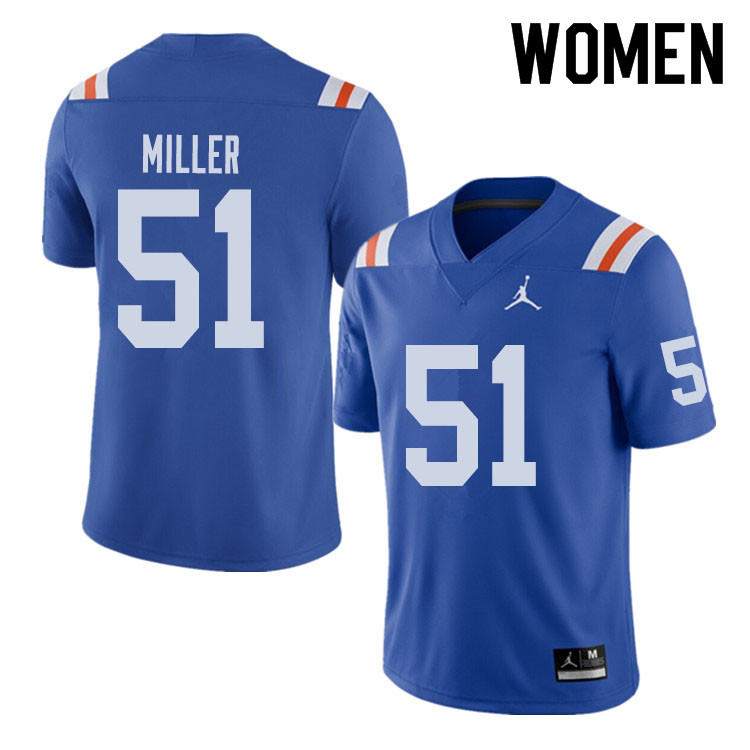 Jordan Brand Women #51 Ventrell Miller Florida Gators Throwback Alternate College Football Jerseys S
