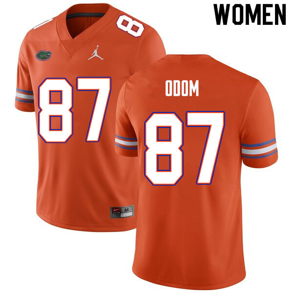 Women #87 Jonathan Odom Florida Gators College Football Jerseys Sale-Orange