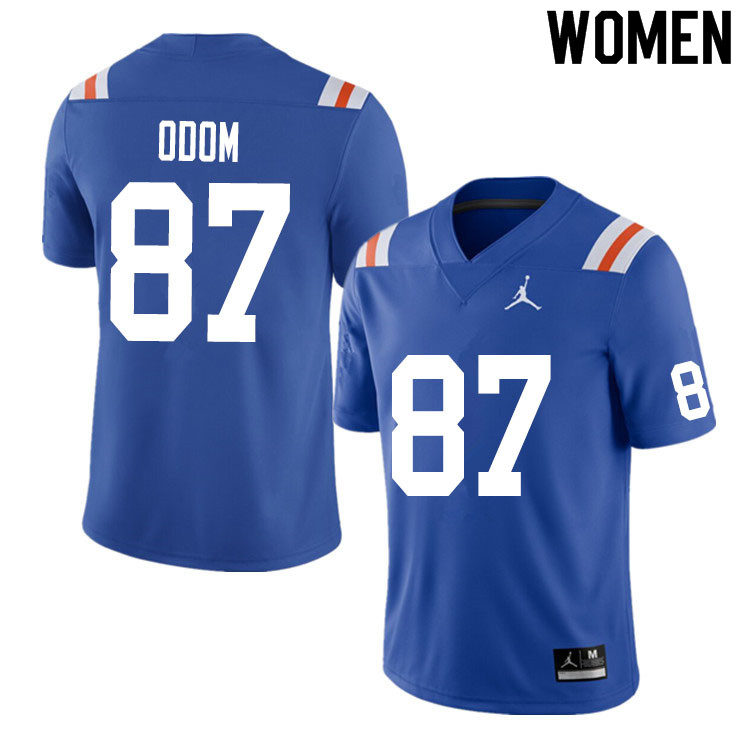 Women #87 Jonathan Odom Florida Gators College Football Jerseys Sale-Throwback