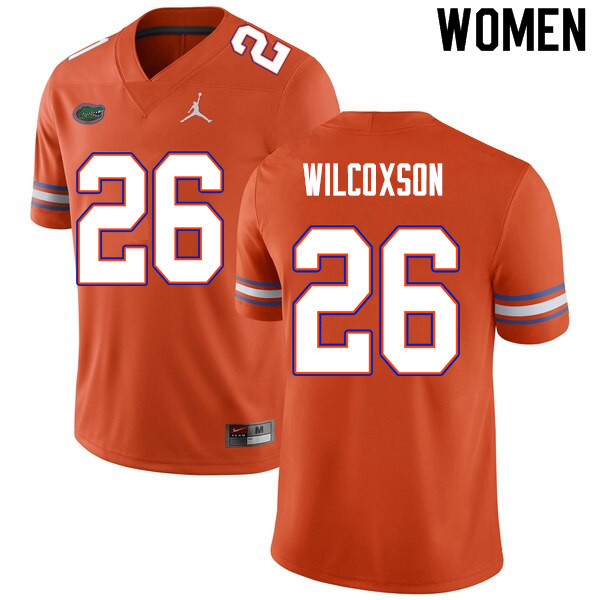 Women #26 Kamar Wilcoxson Florida Gators College Football Jerseys Sale-Orange