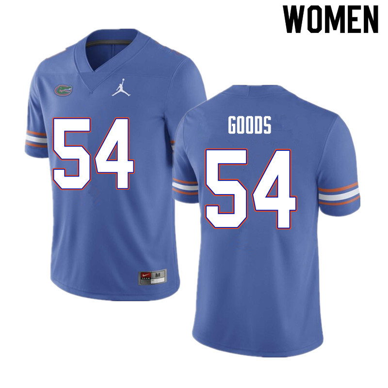 Women #54 Lamar Goods Florida Gators College Football Jerseys Sale-Blue