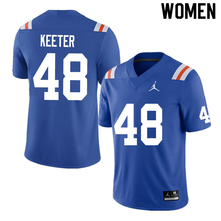 Women #48 Noah Keeter Florida Gators College Football Jerseys Sale-Throwback