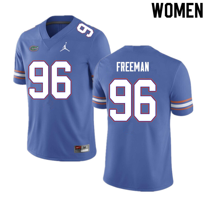 Women #96 Travis Freeman Florida Gators College Football Jerseys Sale-Blue
