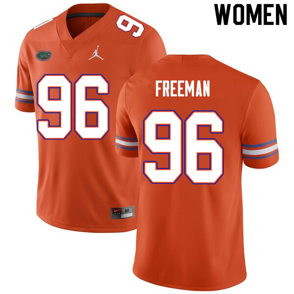 Women #96 Travis Freeman Florida Gators College Football Jerseys Sale-Orange