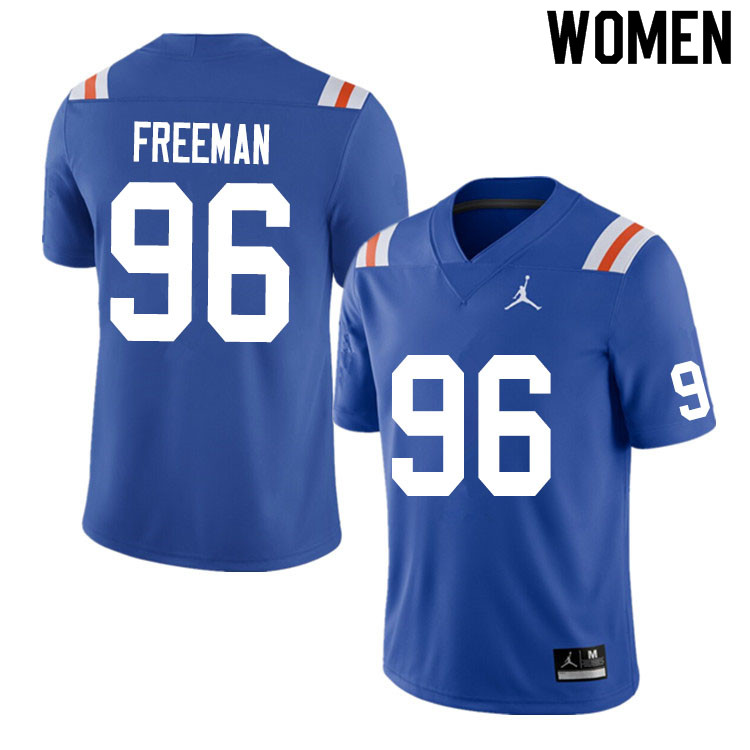 Women #96 Travis Freeman Florida Gators College Football Jerseys Sale-Throwback
