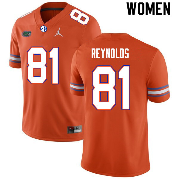 Women #81 Daejon Reynolds Florida Gators College Football Jerseys Sale-Orange