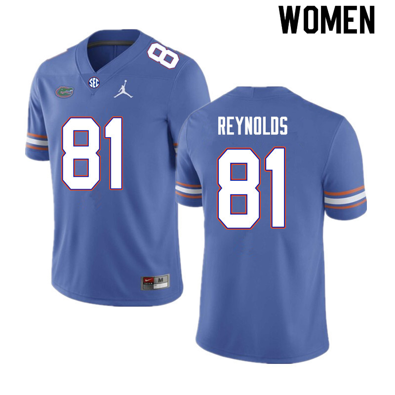 Women #81 Daejon Reynolds Florida Gators College Football Jerseys Sale-Royal