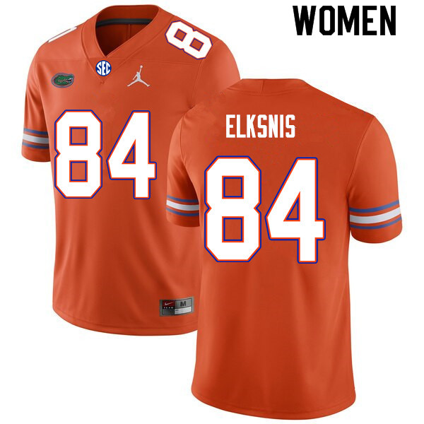 Women #84 Nick Elksnis Florida Gators College Football Jerseys Sale-Orange