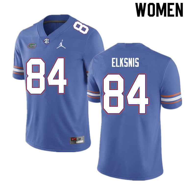 Women #84 Nick Elksnis Florida Gators College Football Jerseys Sale-Royal