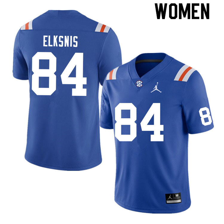 Women #84 Nick Elksnis Florida Gators College Football Jerseys Sale-Throwback