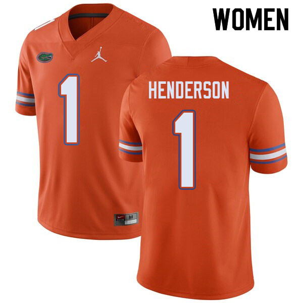 Jordan Brand Women #1 CJ Henderson Florida Gators College Football Jerseys Sale-Orange