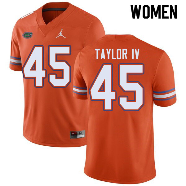 Jordan Brand Women #45 Clifford Taylor IV Florida Gators College Football Jerseys Sale-Orange