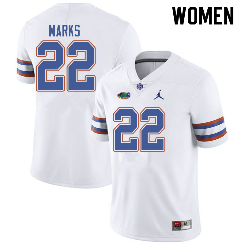 Jordan Brand Women #22 Dionte Marks Florida Gators College Football Jerseys Sale-White