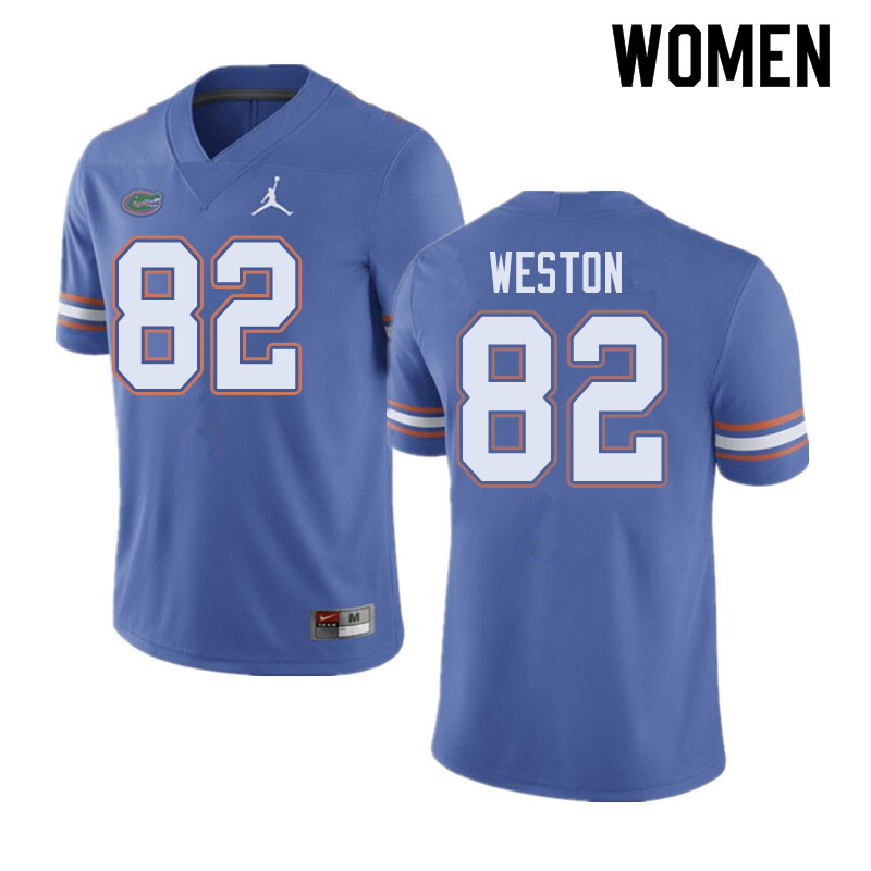 Jordan Brand Women #82 Ja'Markis Weston Florida Gators College Football Jerseys Sale-Blue