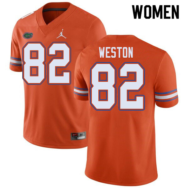 Jordan Brand Women #82 Ja'Markis Weston Florida Gators College Football Jerseys Sale-Orange