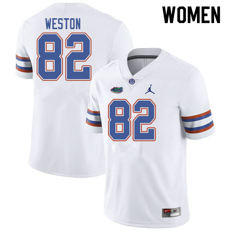 Jordan Brand Women #82 Ja'Markis Weston Florida Gators College Football Jerseys Sale-White