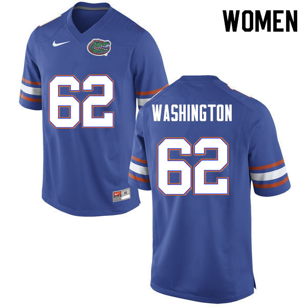 Women #62 James Washington Florida Gators College Football Jerseys Sale-Blue