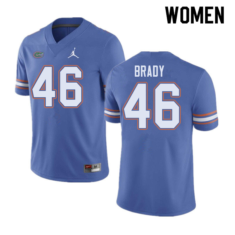 Jordan Brand Women #46 John Brady Florida Gators College Football Jerseys Sale-Blue