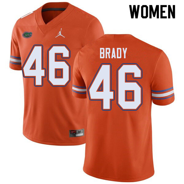 Jordan Brand Women #46 John Brady Florida Gators College Football Jerseys Sale-Orange