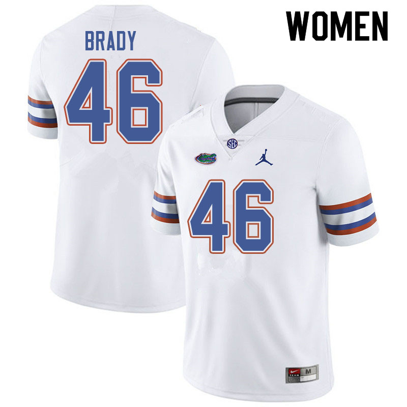 Jordan Brand Women #46 John Brady Florida Gators College Football Jerseys Sale-White
