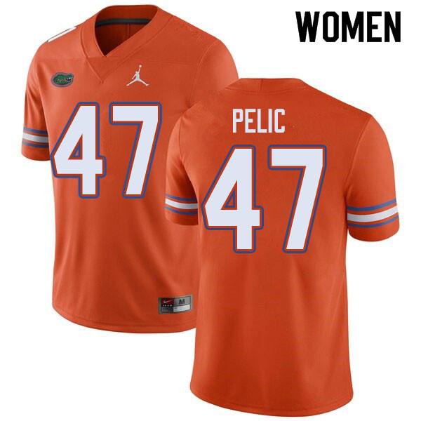 Jordan Brand Women #47 Justin Pelic Florida Gators College Football Jerseys Sale-Orange