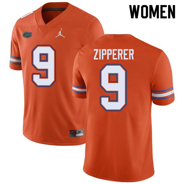 Jordan Brand Women #9 Keon Zipperer Florida Gators College Football Jerseys Sale-Orange
