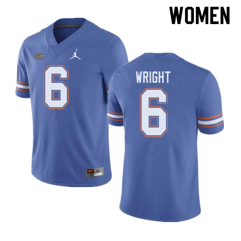 Jordan Brand Women #6 Nay'Quan Wright Florida Gators College Football Jerseys Sale-Blue