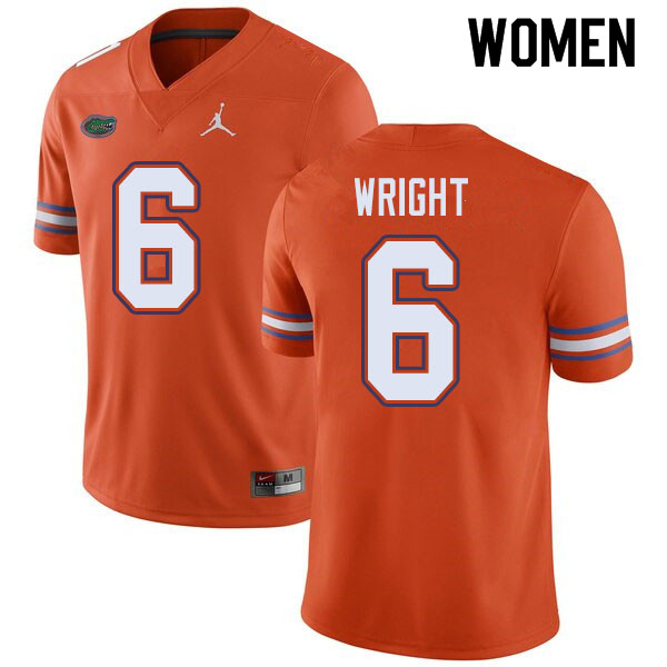 Jordan Brand Women #6 Nay'Quan Wright Florida Gators College Football Jerseys Sale-Orange