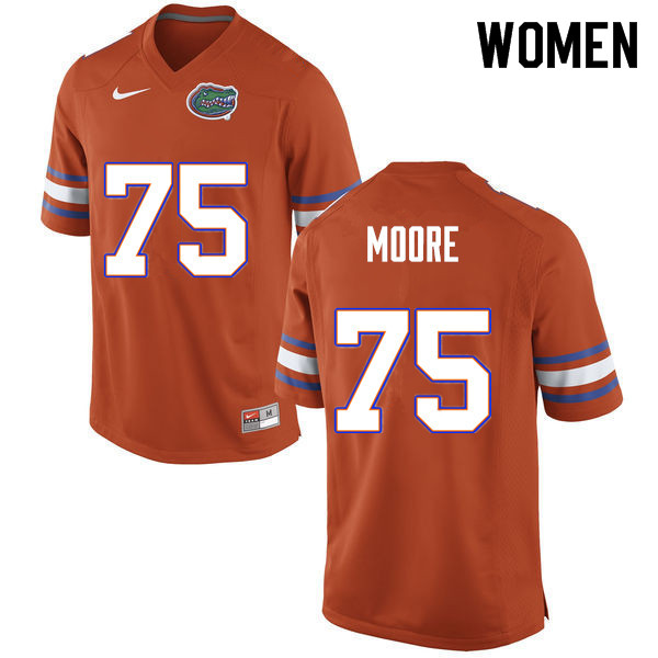 Women #75 T.J. Moore Florida Gators College Football Jerseys Sale-Orange