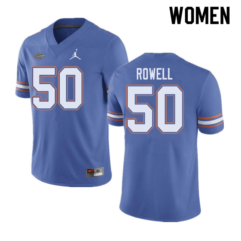 Jordan Brand Women #50 Tanner Rowell Florida Gators College Football Jerseys Sale-Blue