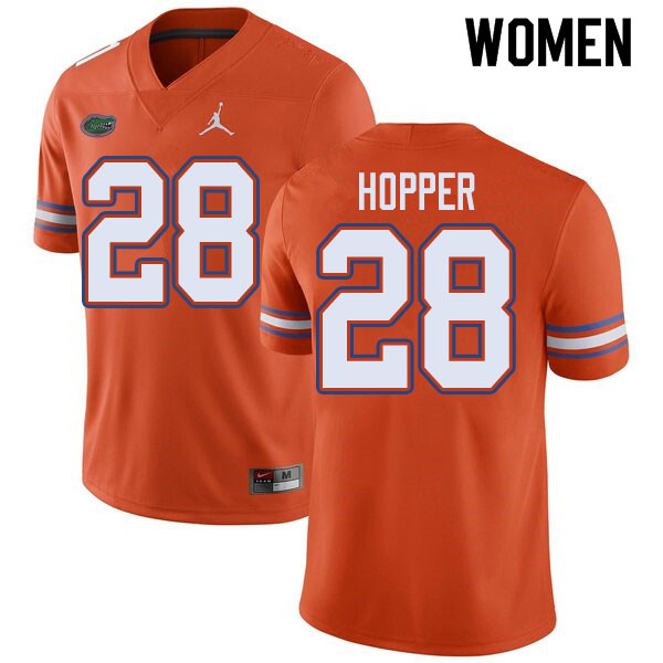 Jordan Brand Women #28 Ty'Ron Hopper Florida Gators College Football Jerseys Sale-Orange