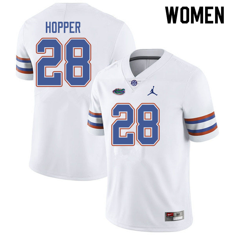 Jordan Brand Women #28 Ty'Ron Hopper Florida Gators College Football Jerseys Sale-White