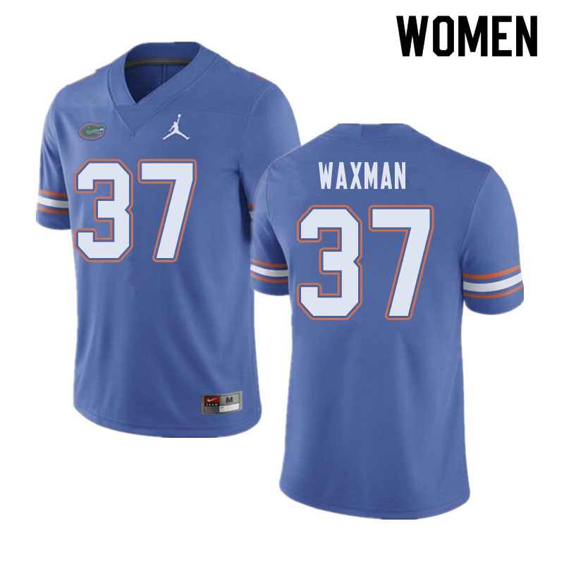 Jordan Brand Women #37 Tyler Waxman Florida Gators College Football Jerseys Sale-Blue