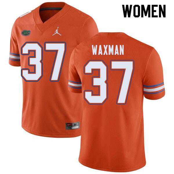 Jordan Brand Women #37 Tyler Waxman Florida Gators College Football Jerseys Sale-Orange