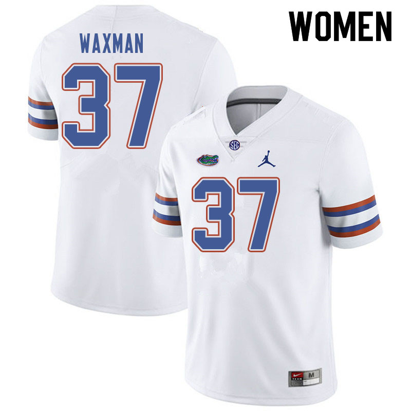 Jordan Brand Women #37 Tyler Waxman Florida Gators College Football Jerseys Sale-White