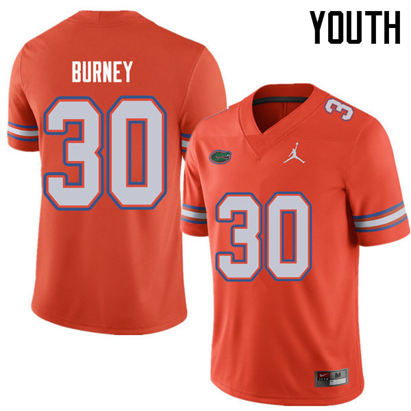 Jordan Brand Youth #30 Amari Burney Florida Gators College Football Jerseys Sale-Orange
