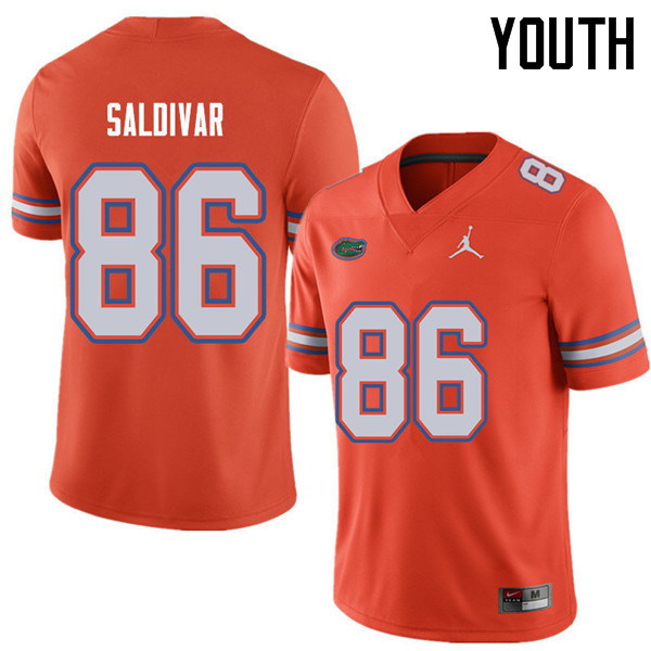 Jordan Brand Youth #86 Andres Saldivar Florida Gators College Football Jerseys Sale-Orange